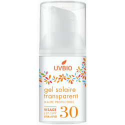 GEL SOLAIRE SPF 30 TRANSPARENT VISAGE 30 ML UVBIO